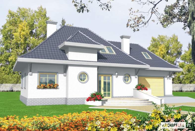 Projekt domu Dora G2 - wizualizacja frontowa