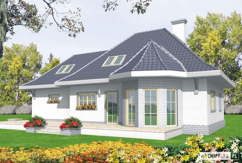 Projekt domu Dora G2 - wizualizacja ogrodowa