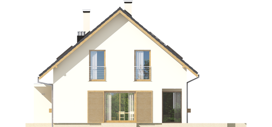 Liv 4 G1 A++ - Projekt domu Liv 4 G1 - elewacja prawa