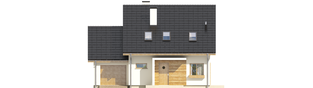 Projekt domu Liv 4 G1 - elewacja frontowa