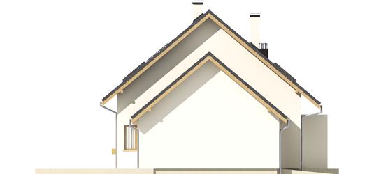 Liv 4 G1 A++ - Projekt domu Liv 4 G1 - elewacja lewa