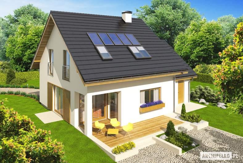 Projekt domu Liv 4 G1 - widok z góry