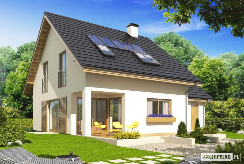 Projekt domu Liv 4 G1 - wizualizacja ogrodowa