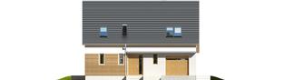 Projekt domu Alba G1 - elewacja frontowa