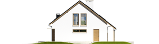 Projekt domu Alba G1 - elewacja prawa