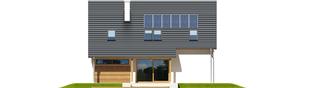 Projekt domu Alba G1 - elewacja tylna