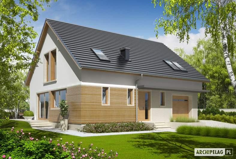 Projekt domu Alba G1 - wizualizacja frontowa