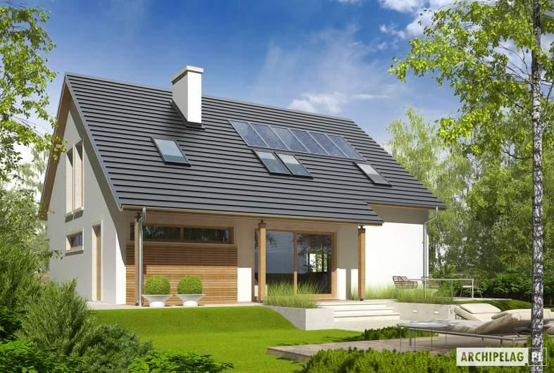 Projekt domu Alba G1 - wizualizacja ogrodowa