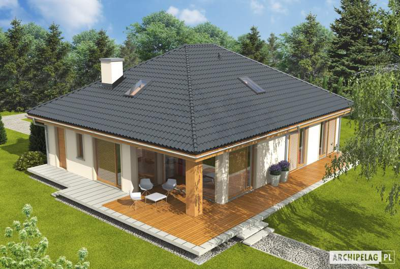 Projekt domu Andrea ENERGO PLUS - widok z góry