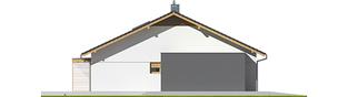 Projekt domu Iwo II G2 ENERGO PLUS - elewacja lewa
