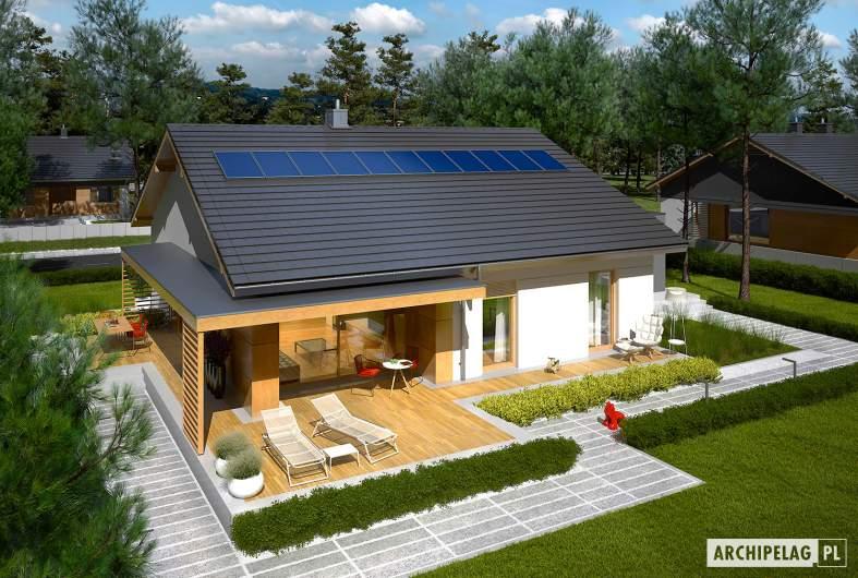 Projekt domu Iwo II G2 ENERGO PLUS - widok z góry