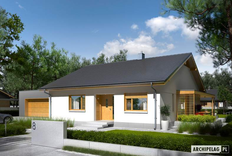 Projekt domu Iwo II G2 ENERGO PLUS - wizualizacja frontowa