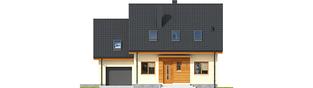 Projekt domu E3 G1 ECONOMIC (wersja A) - elewacja frontowa