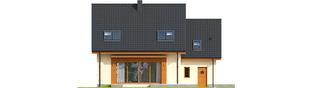 Projekt domu E3 G1 ECONOMIC (wersja A) - elewacja tylna