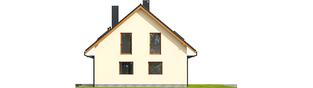 Projekt domu E3 G1 ECONOMIC (wersja A) - elewacja prawa