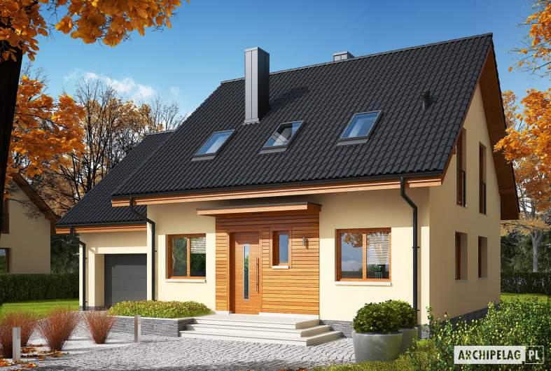 Projekt domu E3 G1 ECONOMIC (wersja A) - Projekty domów ARCHIPELAG - E3 G1 ECONOMIC (wersja A) - wizualizacja frontowa