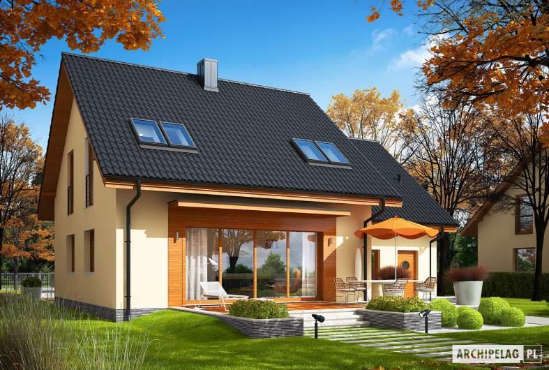 Projekt domu E3 G1 ECONOMIC (wersja A) - Projekty domów ARCHIPELAG - E3 G1 ECONOMIC (wersja A) - wizualizacja ogrodowa
