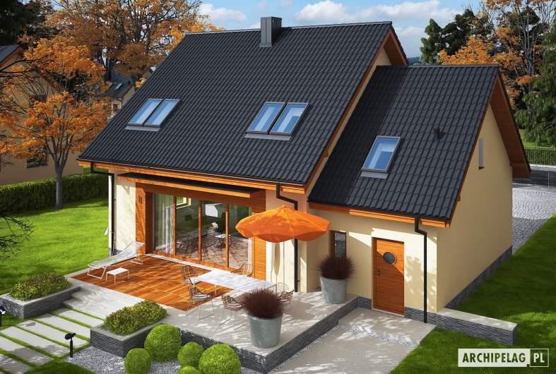 Projekt domu E3 G1 ECONOMIC (wersja A) - Projekty domów ARCHIPELAG - E3 G1 ECONOMIC (wersja A) - widok z góry