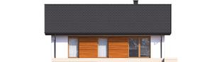 Projekt domu Kornel V ENERGO - elewacja tylna