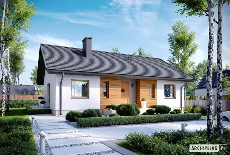 Projekt domu Kornel V ENERGO - wizualizacja frontowa
