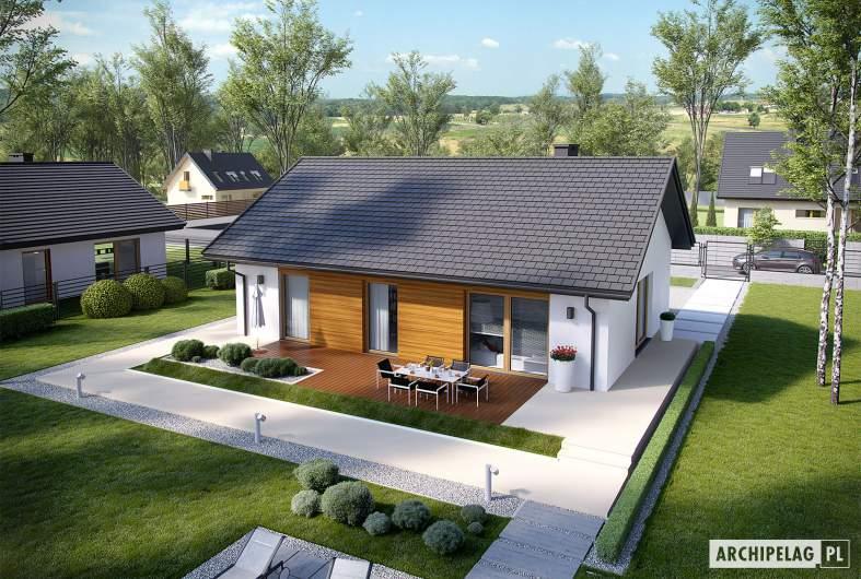 Projekt domu Kornel V ENERGO - widok z góry