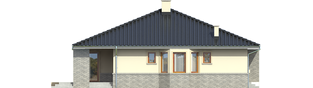 Projekt domu Flori II - elewacja lewa