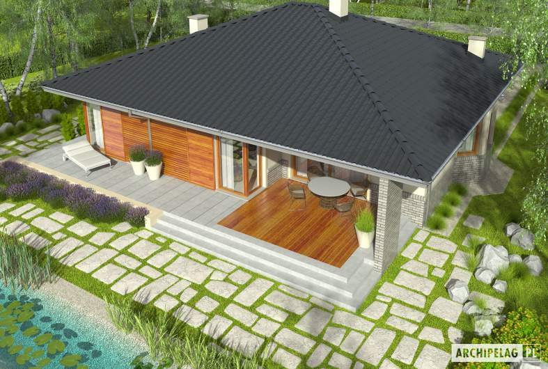 Projekt domu Flori II - widok z góry