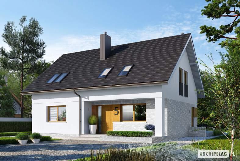 Projekt domu Logan II - Projekty domów ARCHIPELAG - Logan II - wizualizacja frontowa