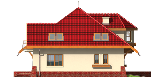 Rozína - Projekt domu Rozyna G1 - elewacja lewa
