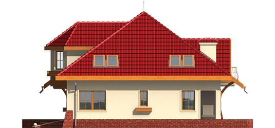 Rozína - Projekt domu Rozyna G1 - elewacja prawa