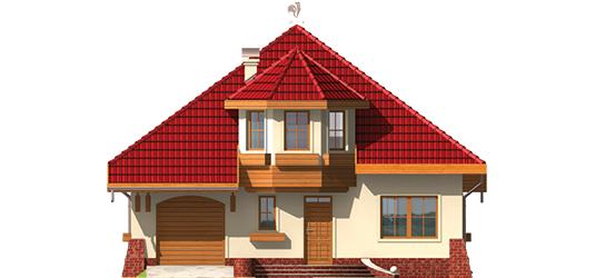 Rozína - Projekt domu Rozyna G1 - elewacja frontowa