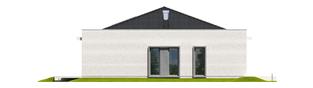 Projekt domu Marlon III G1 (biały) - elewacja lewa