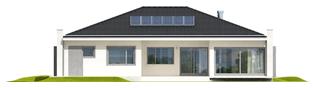 Projekt domu Marlon III G1 (biały) - elewacja tylna