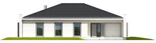 Projekt domu Marlon III G1 (biały) - elewacja frontowa