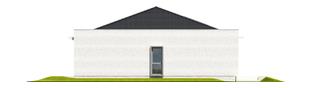 Projekt domu Marlon III G1 (biały) - elewacja prawa