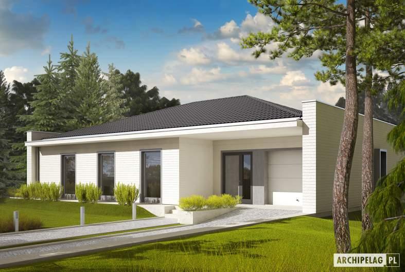 Projekt domu Marlon III G1 (biały) - wizualizacja frontowa