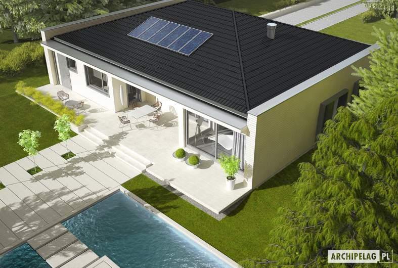 Projekt domu Marlon III G1 (biały) - widok z góry