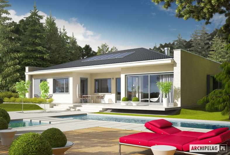 Projekt domu Marlon III G1 (biały) - wizualizacja ogrodowa