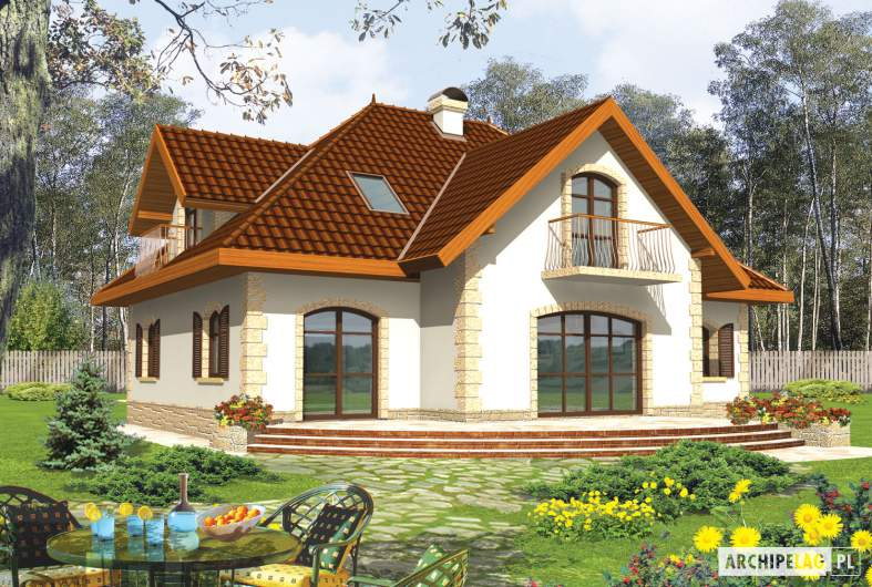 Projekt domu Marysia III G2 - wizualizacja ogrodowa