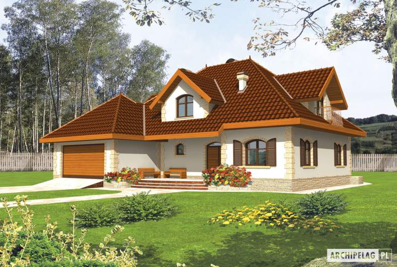 Projekt domu Marysia III G2 - wizualizacja frontowa