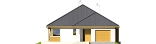 Projekt domu Glen II G1 Leca® DOM - elewacja frontowa