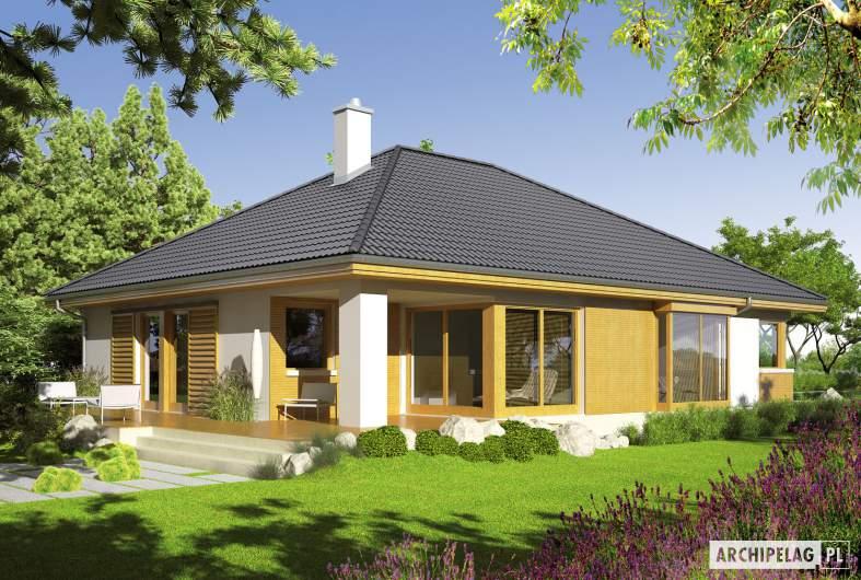 Projekt domu Glen II G1 - wizualizacja ogrodowa