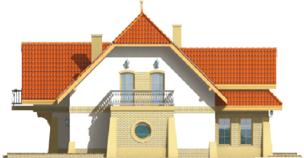 Poe II - Projekt domu Poziomka II - elewacja lewa