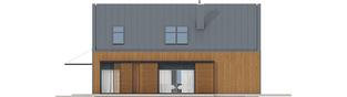 Projekt domu EX 14 ENERGO PLUS - elewacja prawa