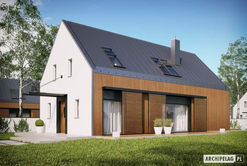 Projekt domu EX 14 ENERGO PLUS - Projekty domów ARCHIPELAG - EX 14 - wizualizacja frontowa