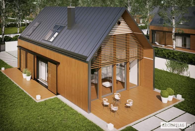 Projekt domu EX 14 ENERGO PLUS - Projekty domów ARCHIPELAG - EX 14 - widok z góry