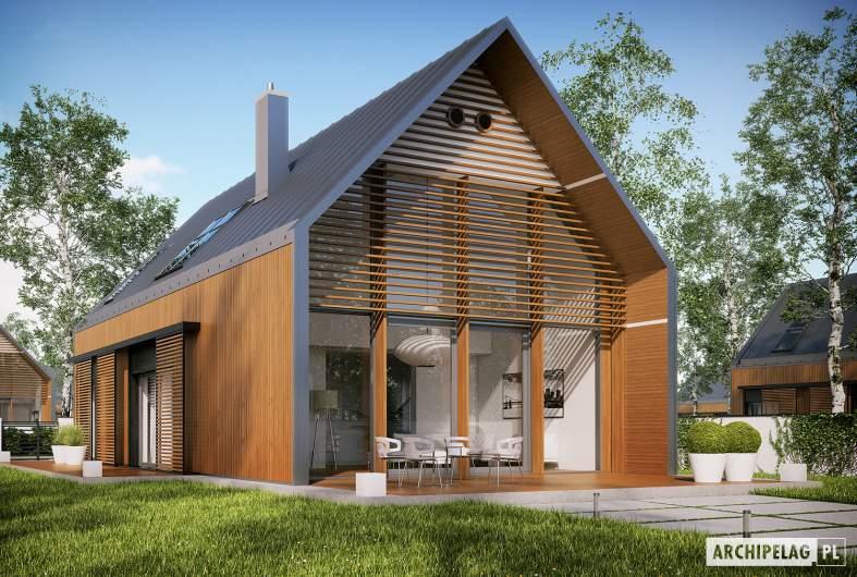 Projekt domu EX 14 ENERGO PLUS - Projekty domów ARCHIPELAG - EX 14 - wizualizacja ogrodowa