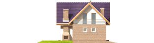 Projekt domu Madzia G1 - elewacja lewa