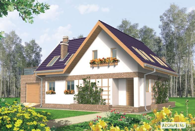 Projekt domu Madzia G1 - wizualizacja frontowa