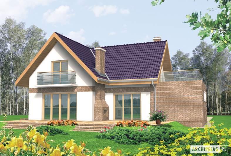 Projekt domu Madzia G1 - wizualizacja ogrodowa